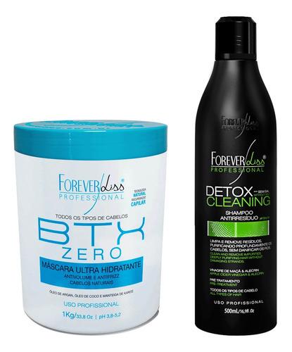 Botox Zero 1kg E Shampoo Antirresiduo Detox Forever Liss