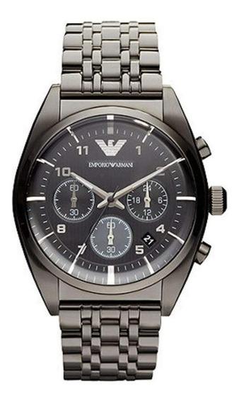 Relógio Emporio Armani Ar0374 Gunmetal Original Cronógrafo