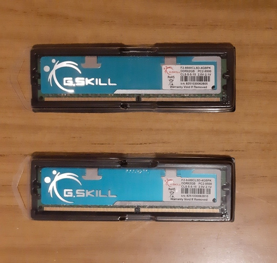 Pack Dos Memorias Ddr2 Pc2-8500 Gskill 2x2gb (4gb Total)