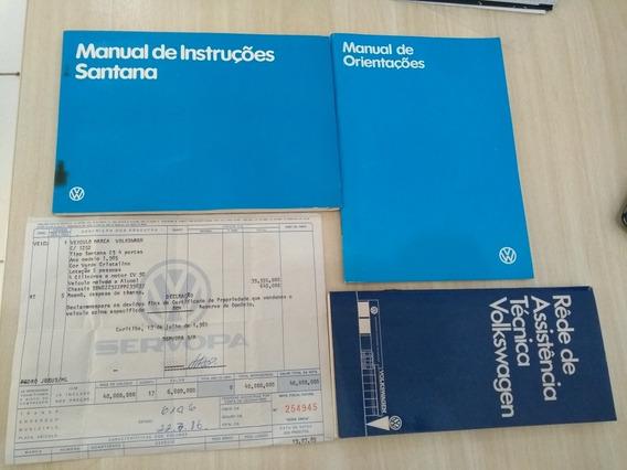 Manual Proprietário Vw Santana Cs 1965 Original Com Nf