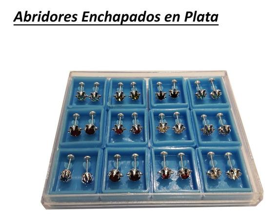 Caja X12 Aros Abridores Enchapados En Oro/plata