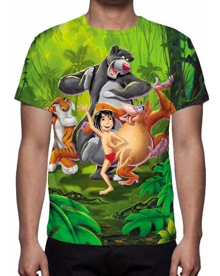 Camisa, Camiseta Disney Mogli O Menino Lobo - Estampa Total