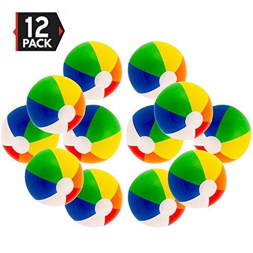 12 Paquete De Fiesta De Colores Del Arco Iris Bolas De Playa