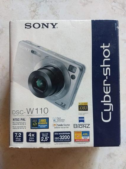 Raridade Sony Cybershot Dsc W110 Prata 7.2mp