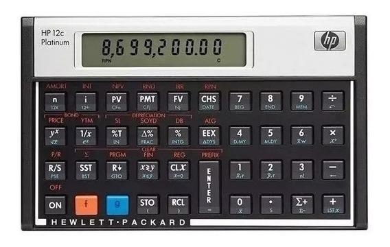 Calculadora Financeira Hp 12c Platinum 130 Funções Rpn E Alg
