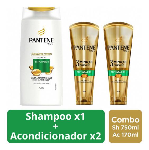 Shampoo Pantene Restauración + 2 Acondicion 3 Minute Miracle