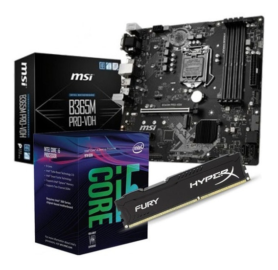 Combo Actualizacion Pc Intel I5 9400f B365 Pro Hyperx 8gb