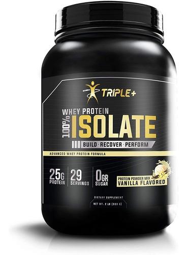 Proteina Whey Protein Isolate Triple + Vainilla 29 Servicios