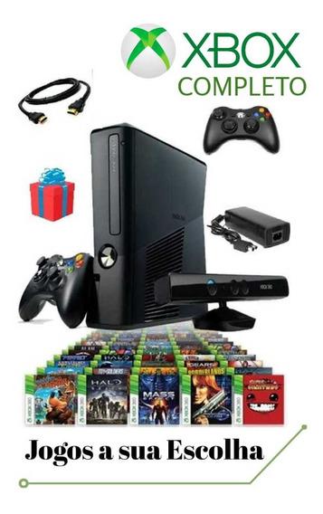 Xbox + Jogos A Escolha + 2 Controles + Kinect/ 12x Sem Juros
