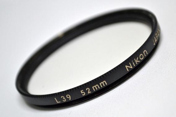Filtro Nikon L39 52mm (made In Japan - Excelente++++)