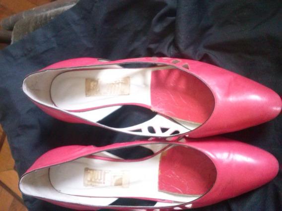 Zapatos Color Coral N°39 Gatopardo Excelente Estado!