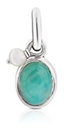 Colgante De Plata Con Perla, Color Turquesa, Marca Pyle