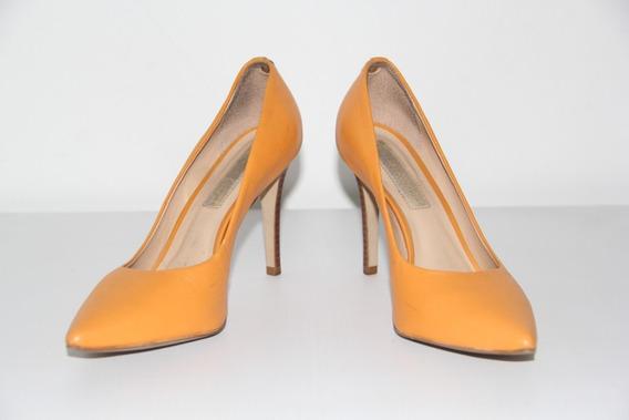 Sapato Scarpan Jorge Bischoff Bico Fino Laranja