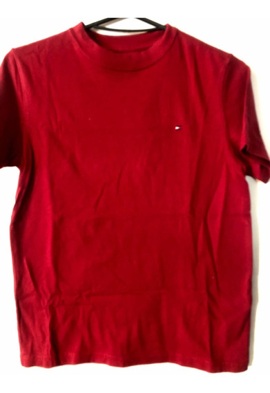 Remera Tommy Hilfiger Niño Talle 8-10 Impecable Bordeaux