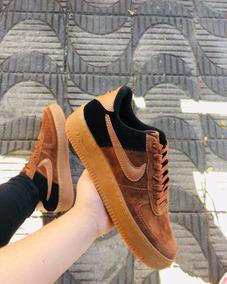 Tênis Nike Air Force Camurça Caramelo/preto...