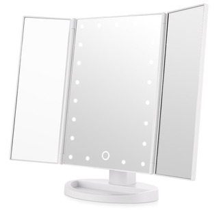 Espejo De Baño Cosmético Blanco Con Luz 180 Grados Easehold