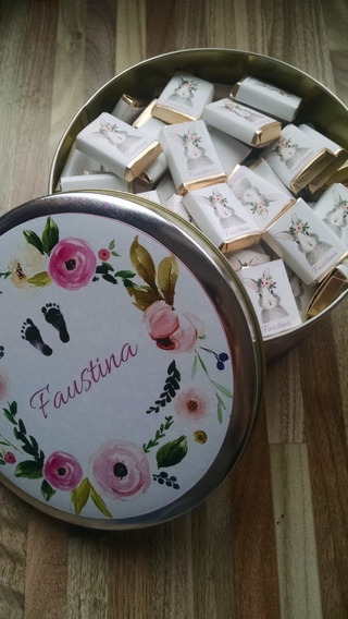 100 Chocolates Personalizados + Lata