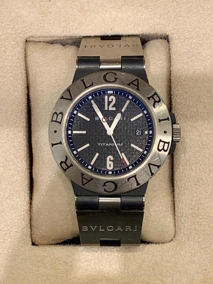 Relógio Bvlgari Chronograph Titanium Ti44ta Completo