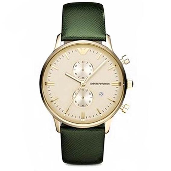Reloj Análogo Marca Armani Modelo: Ar1722 Color Oro / Verde