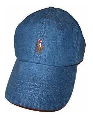 Ralph Lauren Polo Gorra De Béisbol Vaquera Desgastada Para H