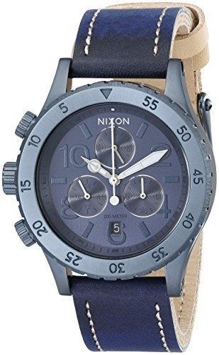 Reloj Nixon Womens A5041930 3820 Con Cronografo De Cuero