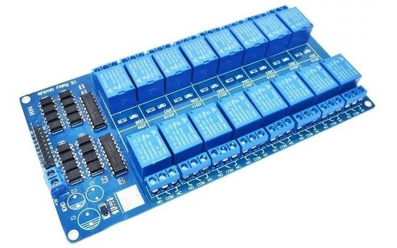 Módulo 16 Canais 5v Relé Arduino Arm Avr Pic Optocoupler