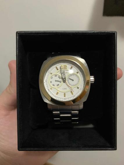 Relógio Monte Carlo - Prata E Dourado