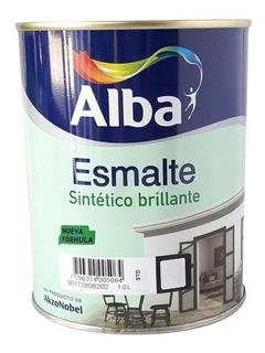 Esmalte Sintetico Alba Standard Blanco Brillante 1l Pintumm