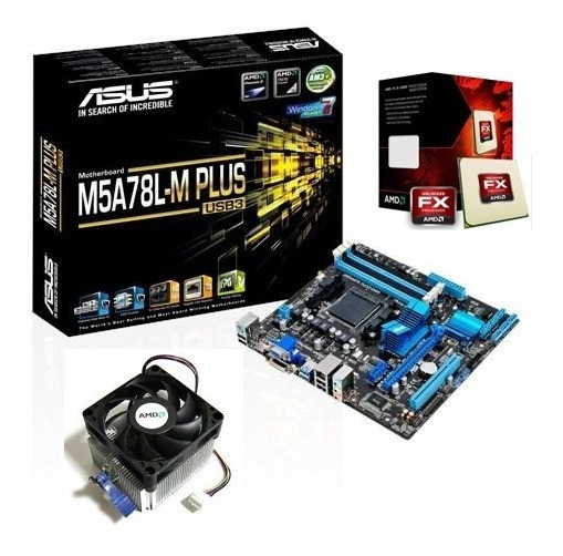 Kit Proc Amd Fx-6300 14mb Box + Asus Am3+ M5a78l-m Plus Usb3