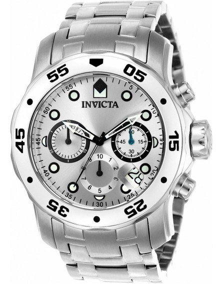 Relógio Invicta Pro Diver 0071 Original Aço Prata Original