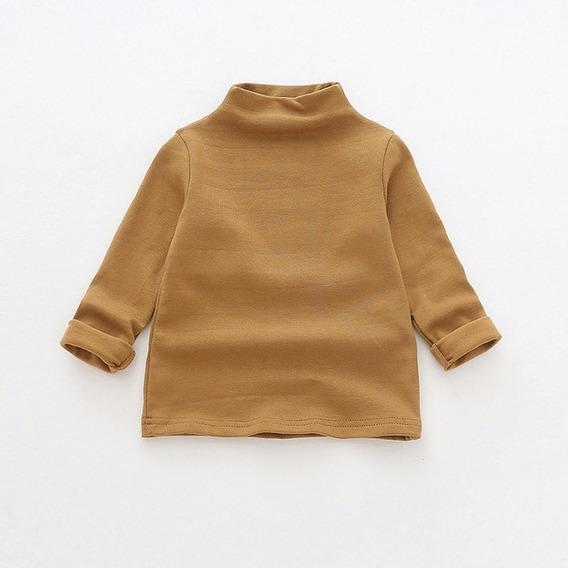 Amarillo 90cm Moda Bebé Top Bebé Medio Cuello Alto Camiseta