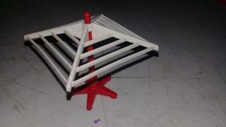 Playmobil Tendedero Victoriano De Ropa Cuadrado Con Base Js