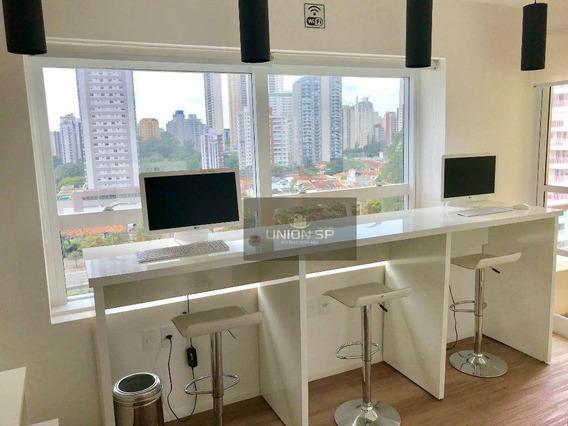 Apartamento Com 1 Dormitório À Venda, 32 M² Por R$ 440.000 - Brooklin - São Paulo/sp - Ap40698