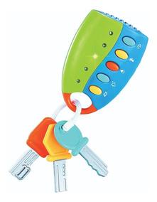Brinquedo Musical Bebe 02 Meses Controle Musical Som E Luz