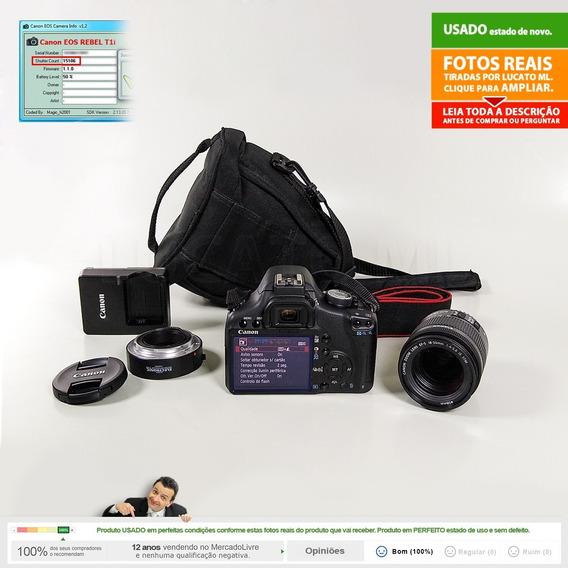 Canon T1i 15k Clicks + 18-55mm Is Stm +tubo Macro +bolsa |1b