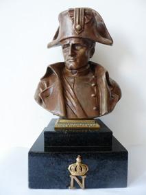 Frete Grátis 12x S/juros Busto Napoleão Séc 19 Bronze Pinedo