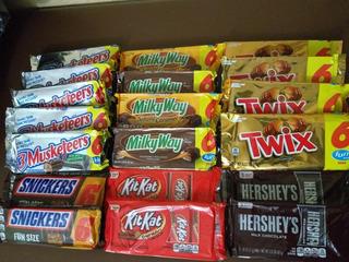 Dulces Importados Twix,milky Way, Snickers, Kit Kat.