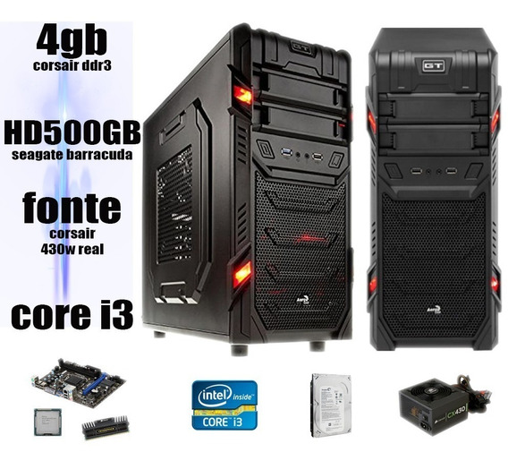 Computador Pc Gamer I3 3.06 4gb Corsair Hd 500 Hd6570 2gb