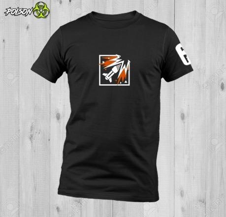 Playeras Dryfit Cuello Redondo Rainbow Six Siege Ash Logo