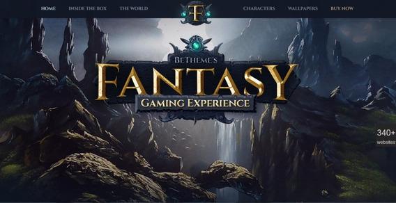 Theme Fantasy Game - Tema Wordpress Premium - Envio Imediato