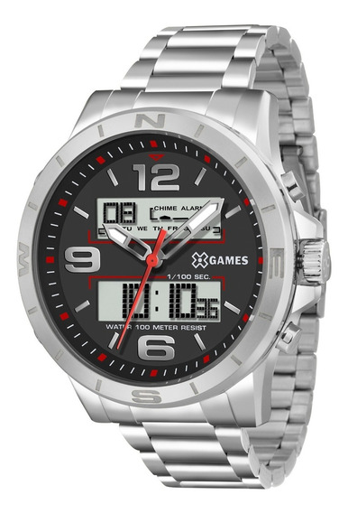 Relógio Xgames Masculino Xmssa004 P2sx Prata