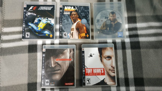 5 Juegos Para Playstation Ps3 F1, Nba, Gta 4, Metal Gear