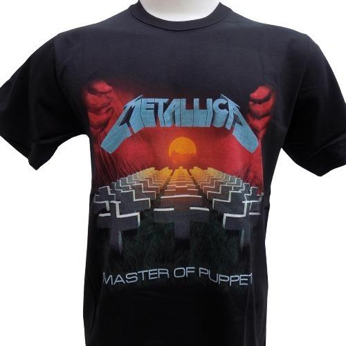 Remera De Metallica Master Of Puppets Rockería Que Sea Rock