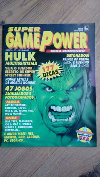 Revista Rara Super Game Power 1 Ano 1994 Hulk Star Trek N311
