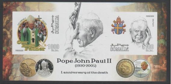 Somalia 2006 Muerte De Papa Juan Pablo 2do Hb Mint S/dentar