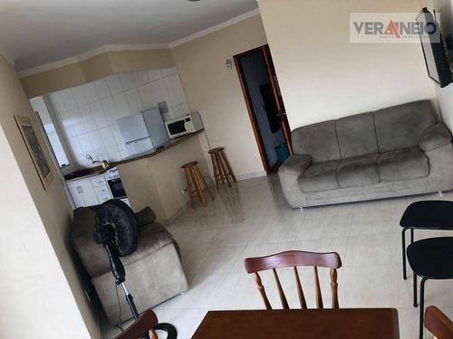 Apartamento Com 1 Dormitório À Venda, 59 M² Por R$ 180.000,00 - Canto Do Forte - Praia Grande/sp - Ap3633