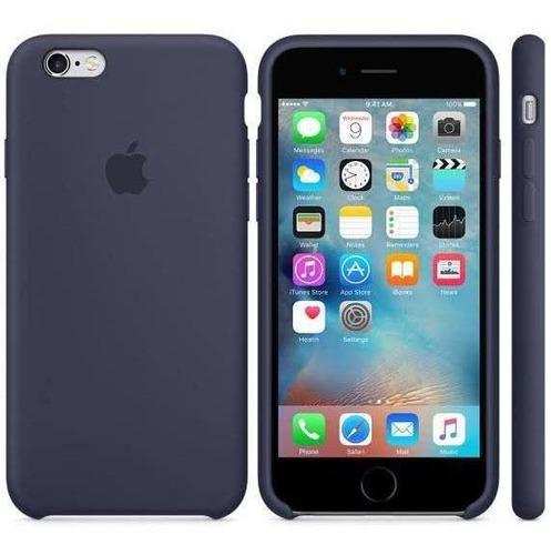 Capa Original Apple iPhone 6 / 6s Apple Azul Marinho