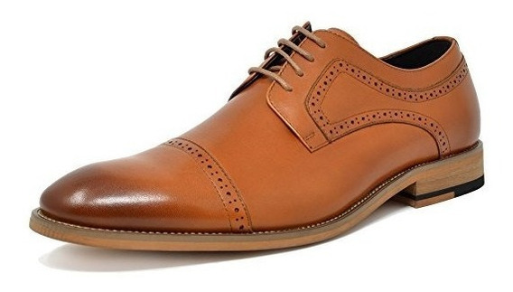 Zapatos Oxford Wingtip Estilo Italiano Bostoniano Casuales