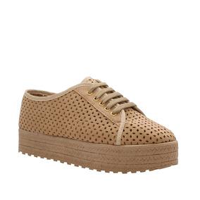 Zapatos Flats Con Plataforma Color Camel O Negro Mona 570