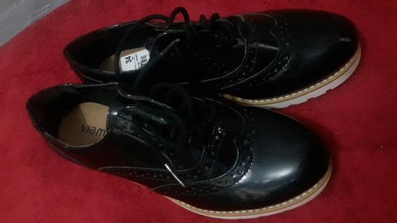 Sapato Feminino Preto Via Marte N° 34.